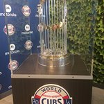 Check out the Cubs World Series trophy, if it's in town!