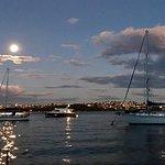 Moored in Taylor's Bay for dinner, Sydney Harbour
