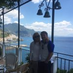 Lunch in Ravello on the Amalfi Coast!! Photo taken by Simone!