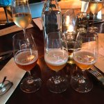 Burke-provided tasting of beers: two exquisite IPA's and a 'sour'