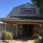 The tasting Room at Deaver Vineyards Winery has the feel of a local grocer store.