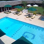 Our renovated pool side