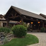 The main entrance at Pronghorn Resort