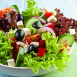 Greek salad [THB159.00] >Combine of vegetables with extra virgin olive oil and Greece's feta che