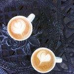 two medium lattes