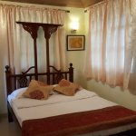 This is one of small rooms with queen size bed