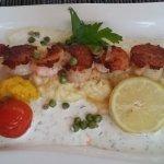 Brochette de St Jaques et ses Crevettes