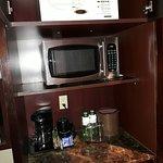 safe, microwave, water bottles, coffee machine