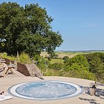 Relax and unwind in our fabulous hot tub with stunning views of Dartmoor.