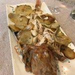 Gallinella al forno con patate