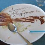 Dessert d'anniversaire offert