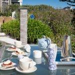 Cream tea in the garden