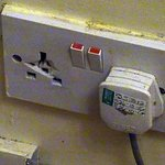Possibly a dangerous socket. we did not dare to use it.