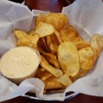 House-made potato chips.