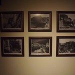 Framed photos in the vestibule