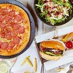 Burgers, pizzas & fresh salads