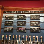Year round and seasonals on tap