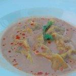Ravioles de crabe et son lait de coco et bisque de Homard