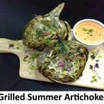 Wood Grilled Artichoke halves with fresh garlic & herbs. Served with house Remoulade