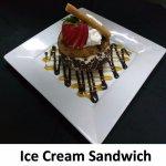 Jumbo house-made Chocolate chip cookies w/French Vanilla Ice Cream