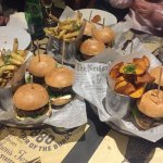 menu de 3 hamburguesas.