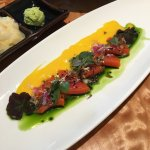 Sockeye Salmon Crudo - Beautiful presentation and absolutely delicious!