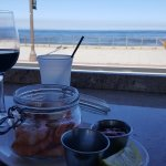 House malbec, shrimp, and view