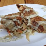 Chicken, Apple, Slaw Savory Crepe
