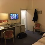 Room, with desk, wi-fi, and TV