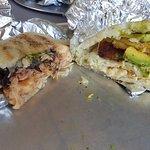 Pollo Guisado and Queso Arepa