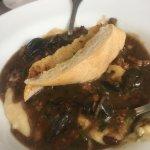 Garlic snails with chorizo appetizer