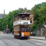Tram 22 (ex-Glasgow Corporation) arriving Stephenson Place, Crich