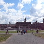 View of Dresden from Neustadt side of Elbe