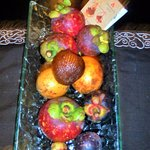 Complimentary Exotic Fruits Tray Daily in our suite