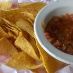 salsa and chips,SPICY!