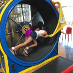 The Human Hamster Wheel that powers the tracks and balls.