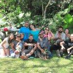 Con la familia en el Jardin Botanico LANKESTER