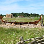 viking ship in the works
