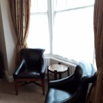 Seating area in our four poster room
