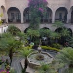 View of the courtyard from outide of our room