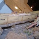 How Lewis and Clark's group got therir canoe/supplies up to go around the falls.