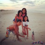 4th of July on Beach front w my 4 Angels