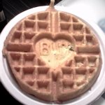 Best Western imprinted waffles at the free breakfast