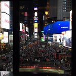 fantastic view of Times Square from the bar