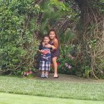 My little ones under the arch at the hotel, so many beautiful areas!