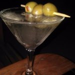 A Martini with Blue Cheese Olives