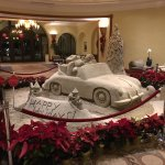 Holiday Sand sculpture in the lobby