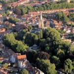 Picture of Bruges from balloon.