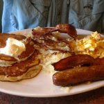 Breakfast combo -- delicious and filling.