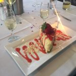 Our dessert and champagne toast, which the restaurant provides when celebrating a special occasi